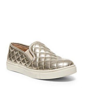 Steve Madden Gold Quilted Loafers